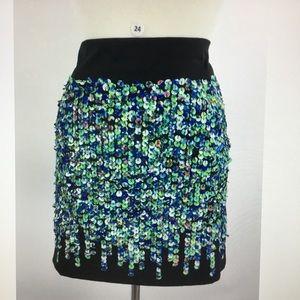Ann Taylor Multi Color Sequin Mini Skirt (B-24)